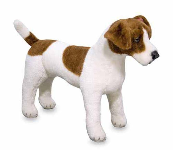 Melissa & Doug - Melissa & Doug Dev Peluş Köpek - Jack Russel Terrier