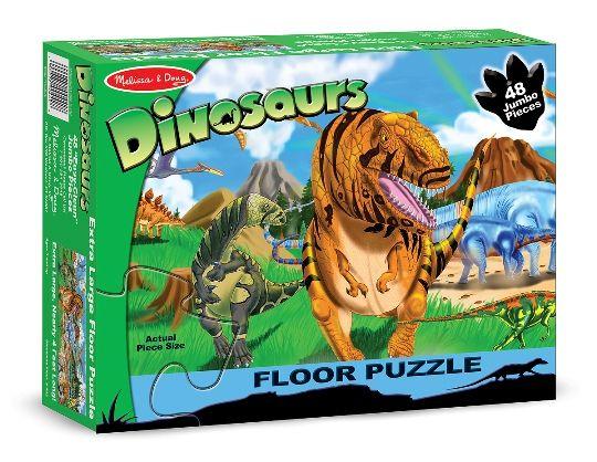 Melissa & Doug - Melissa & Doug Dev Yer Yapbozu- Dinozor Dünyası (48 parça)