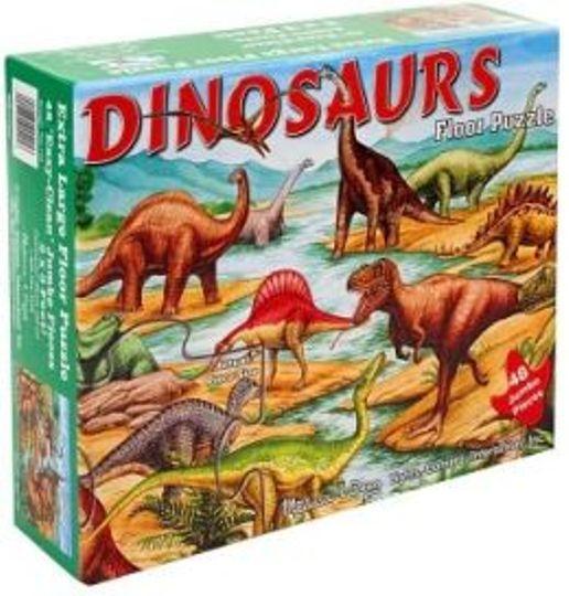 Melissa & Doug - Melissa & Doug Dev Yer Yapbozu- Dinozorlar (48 parça)