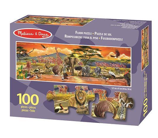 Melissa & Doug - Melissa & Doug Dev Yer Yapbozu- Safari (100 parça)