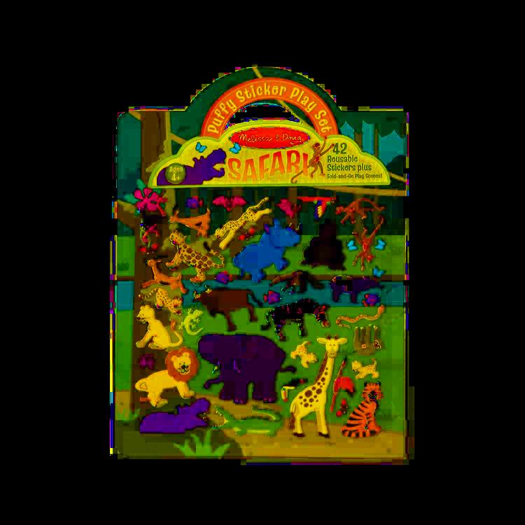 Melissa & Doug - Melissa & Doug Kabartmalı Tak Çıkar Çıkartma Seti - Safari
