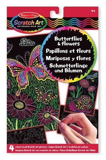 Melissa & Doug - Melissa & Doug Kazıma Sanatı - Renkleri Ortaya Çıkar - Kelebekler ve Çiçekler