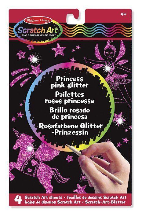 Melissa & Doug - Melissa & Doug Kazıma Sanatı- Renkleri Ortaya Çıkar - Prenses- Işıltılı Pembe