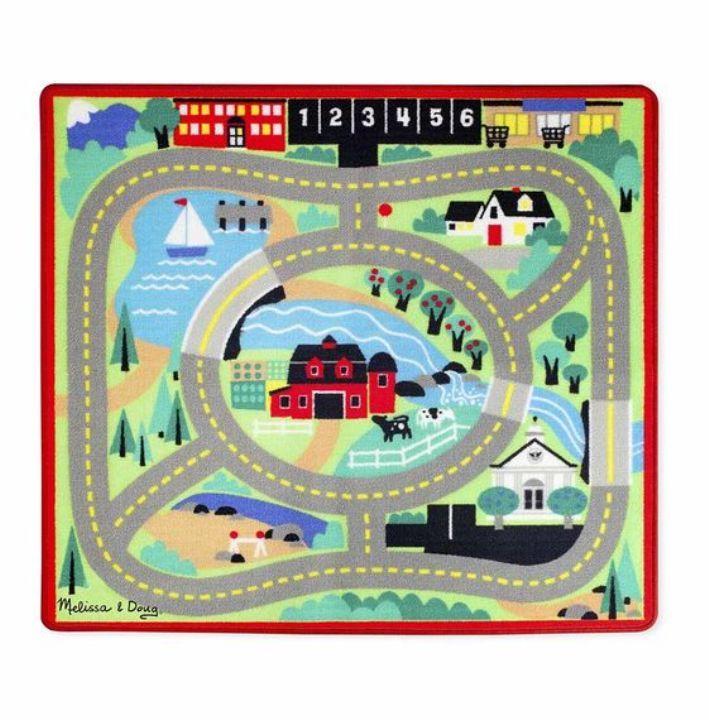Melissa & Doug - Melissa & Doug Oyun Halı Seti - Arabalar
