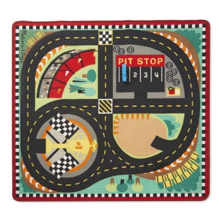 Melissa & Doug - Melissa & Doug Oyun Halı Seti - Yarış Arabaları