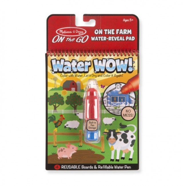 Melissa & Doug - Melissa & Doug Water Wow! Su ile Boyama Kitabı - Çiftlik