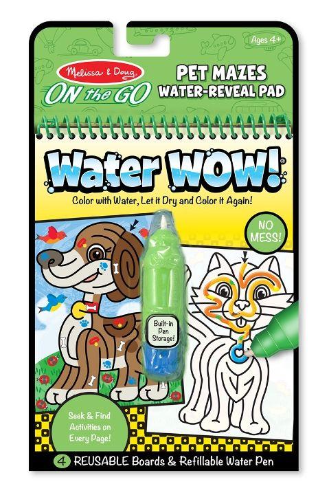 Melissa & Doug - Melissa & Doug Water Wow! Su ile Boyama Kitabı - Evcil Hayvanlar Bulmaca