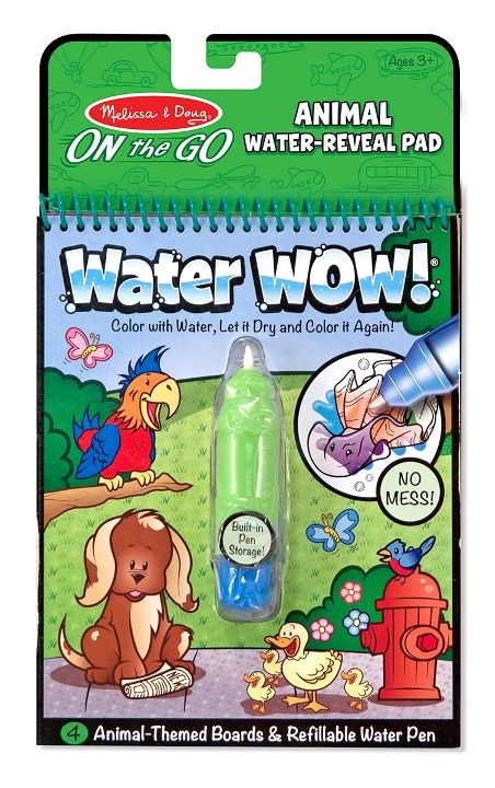 Melissa & Doug - Melissa & Doug Water Wow! Su ile Boyama Kitabı - Hayvanlar