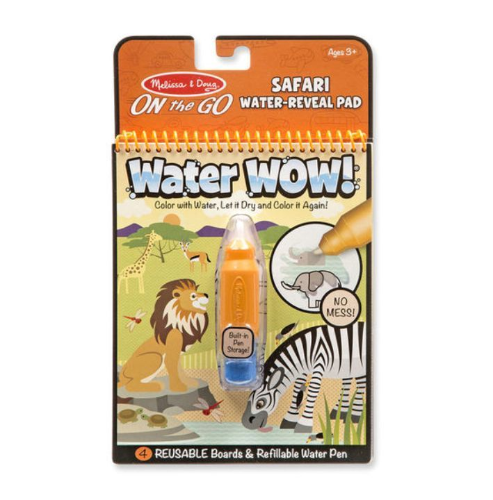 Melissa & Doug - Melissa & Doug Water Wow! Su ile Boyama Kitabı - Safari