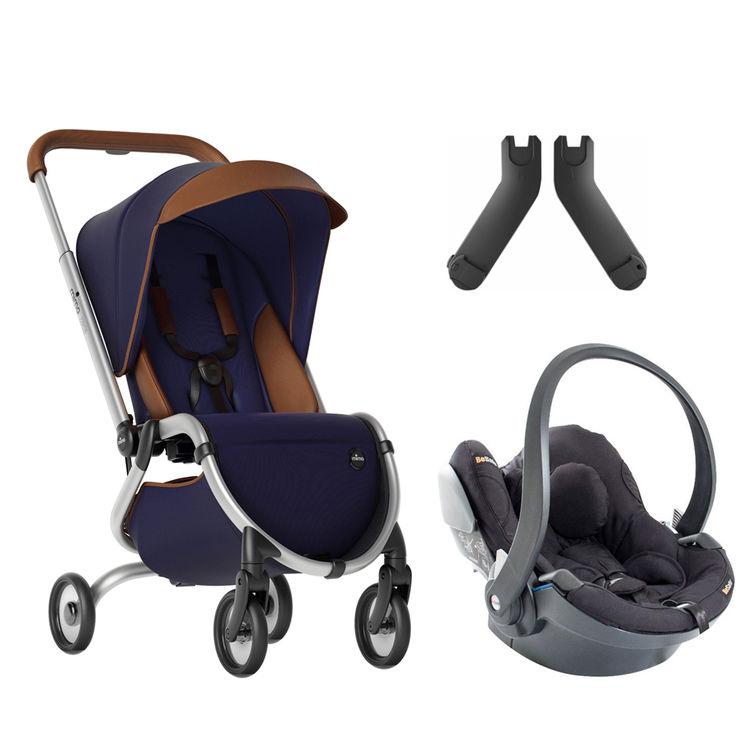 Mima - Mima Zigi Lüks Travel Sistem Bebek Arabası Gece Mavisi - Kırmızı