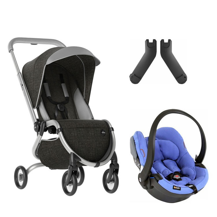 Mima - Mima Zigi Lüks Travel Sistem Bebek Arabası Kömür Siyahı - Mavi