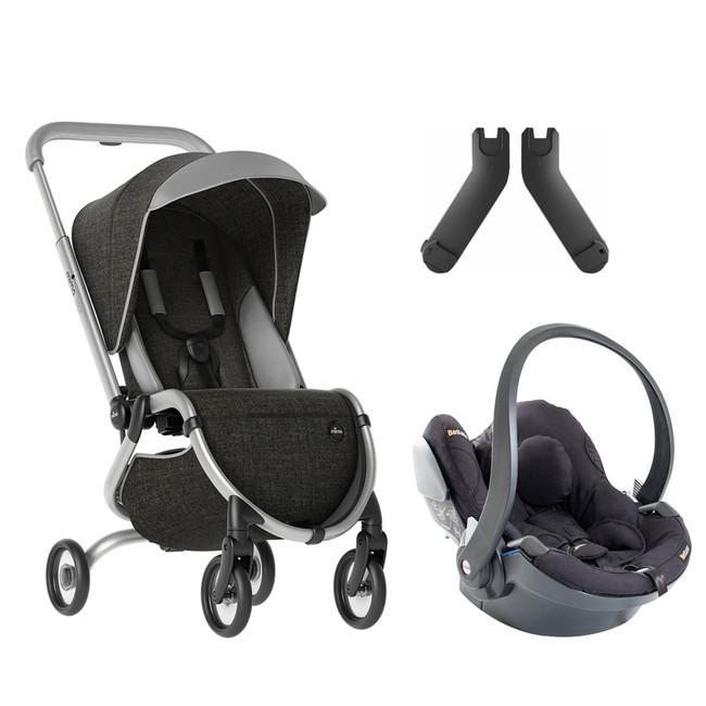 Mima - Mima Zigi Lüks Travel Sistem Bebek Arabası Gri - Siyah