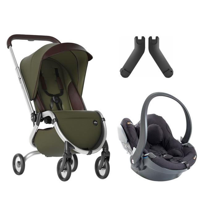 Mima - Mima Zigi Lüks Travel Sistem Bebek Arabası Zeytin Yeşili - Siyah