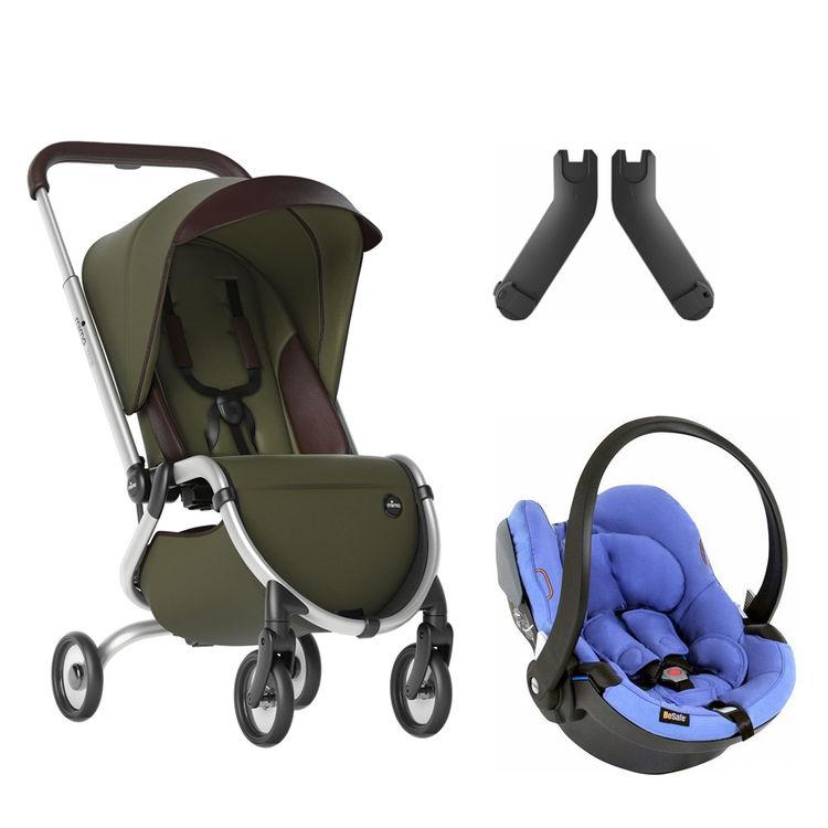 Mima - Mima Zigi Lüks Travel Sistem Bebek Arabası Zeytin Yeşili - Mavi