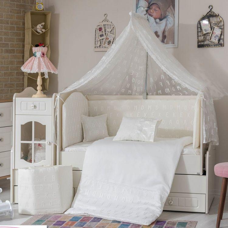 Minybaby - Mini Baby Alfabe Uyku Seti Beyaz