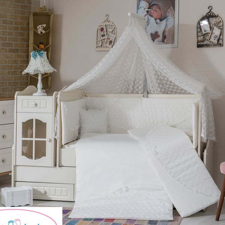 Minybaby - Mini Baby Daisy Uyku Seti Beyaz