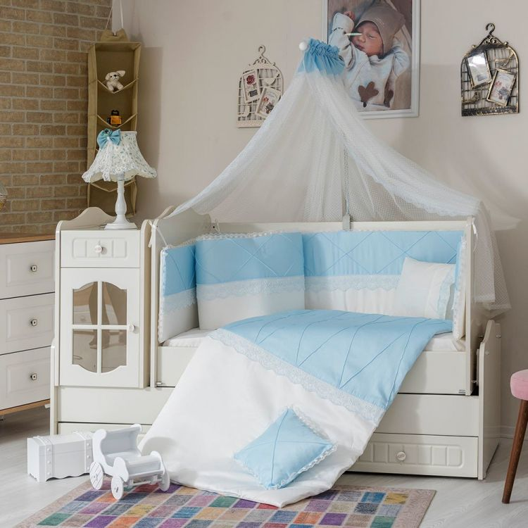 Minybaby - Mini Baby Nervür Uyku Seti Mavi