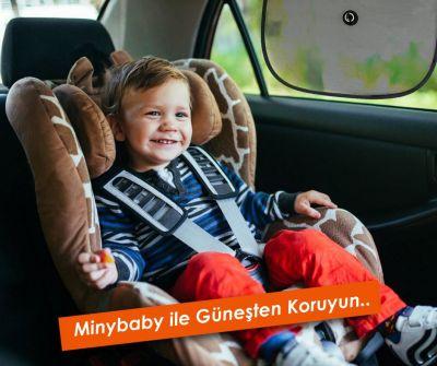 Miny Baby - Miny Baby Güvenli Araç içi Vantuzlu Güneşlik-2'li
