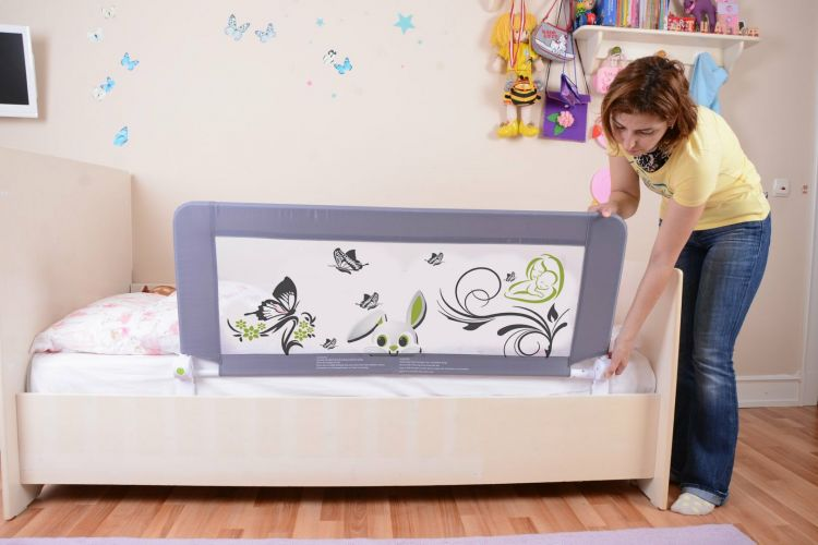 Miny Baby - Miny Baby Katlanabilir Yatak Bariyeri Gri