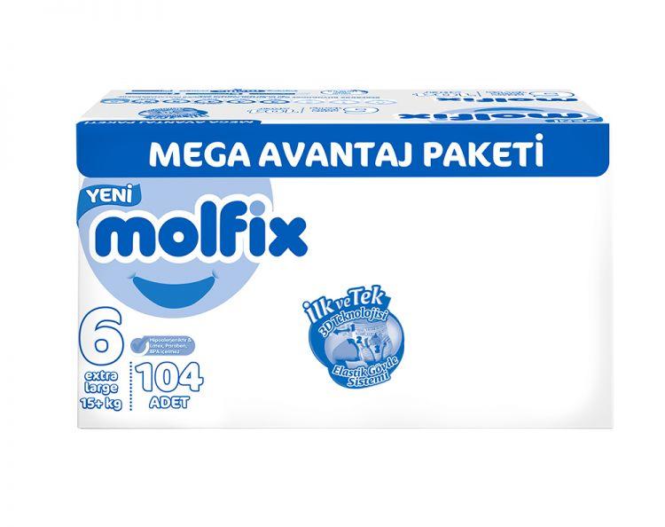 Molfix - Molfix 6 Beden Extra Large 15+ 104 Adet
