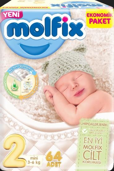 Molfix - Molfix 2 Beden 64lü Ekonomik Paket Bebek Bezi
