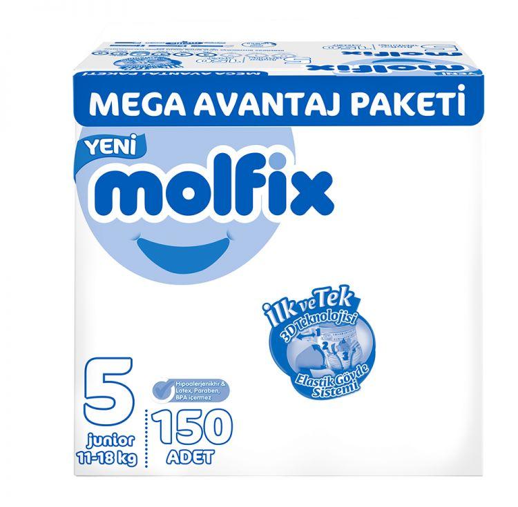 Molfix - Molfix Bebek Bezi Mega Avantaj Paket Junior 5 No 150 li