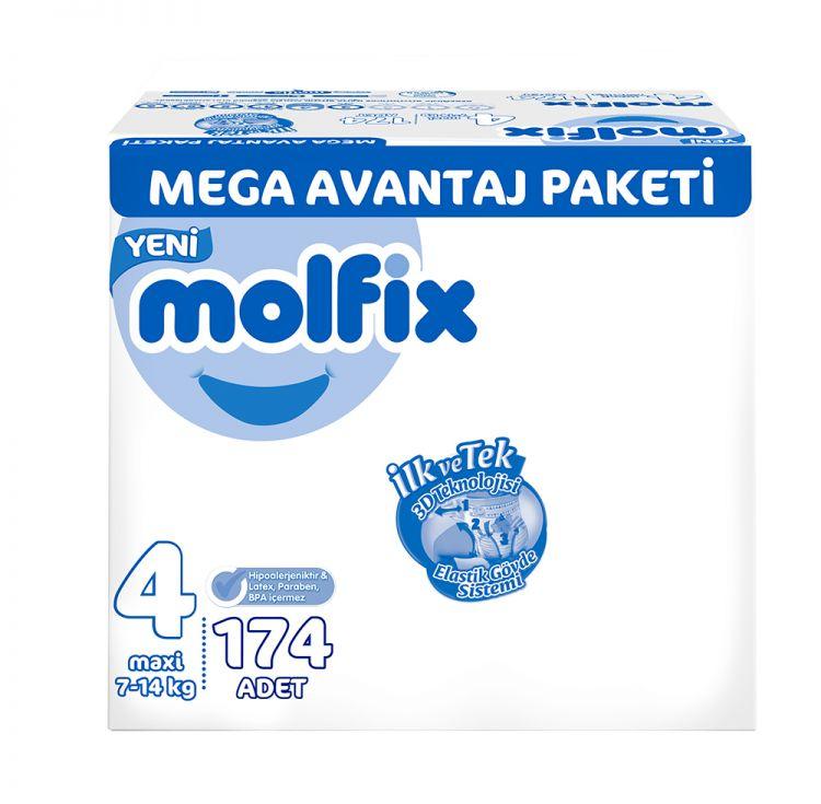 Molfix - Molfix Bebek Bezi Mega Avantaj Paket Maxi 4 No 174 lü
