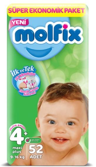 Molfix - Molfix Bebek Bezi 4+ Beden Maxi Plus Fırsat Paketi 52 Adet