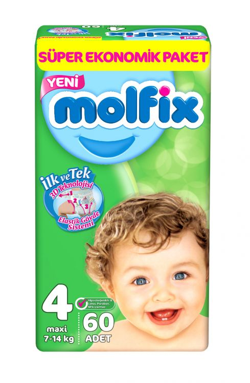 Molfix - Molfix Dev Paket No:4 7-14 Kg 60 Adet