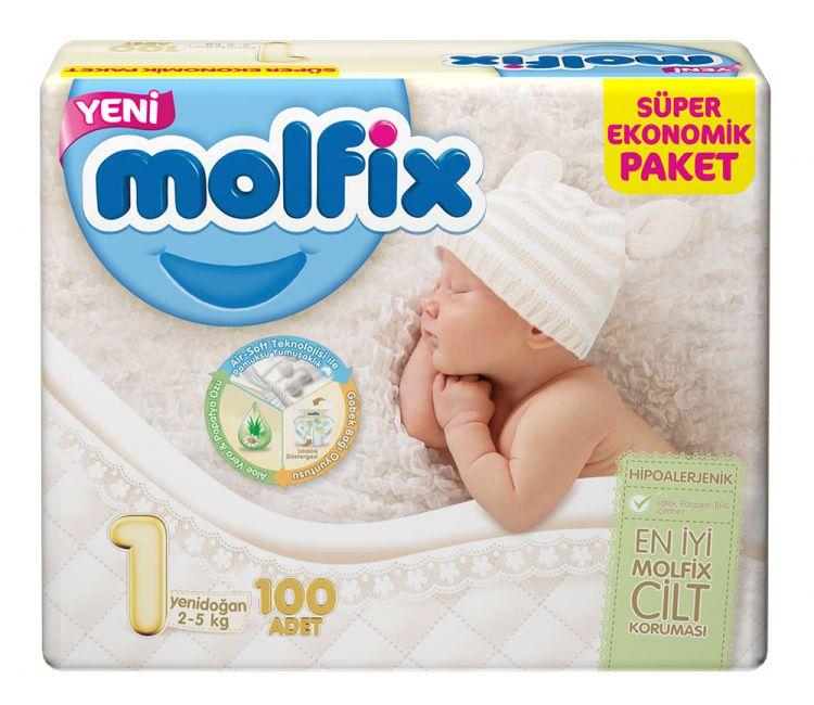 Molfix - Molfix Dev Paket No:1 2-5 Kg 100 Adet Yeni Doğan