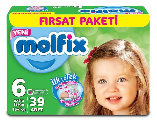 Molfix - Molfix Dev Paket No:6 15+KG 39 Adet Extra Large