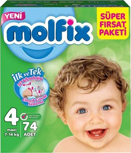 Molfix - Molfix Aylık Fırsat Paket No:4 7-14 Kg 74 Adet