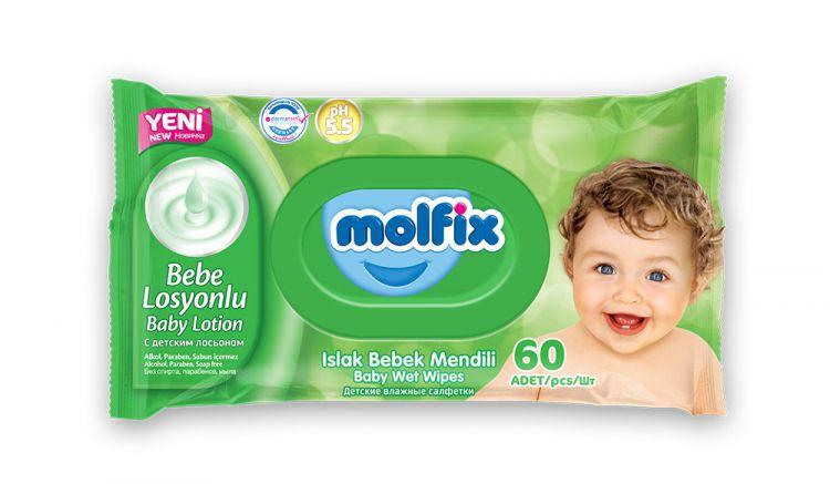 Molfix - Molfix Islak Bebek Mendili 3lü 6 Paket 1080 Yaprak
