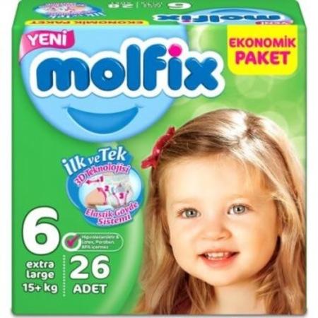 Molfix - Molfix Comfort Fix Jumbo No:6 Extra Large 26 Adet Bebek Bezi