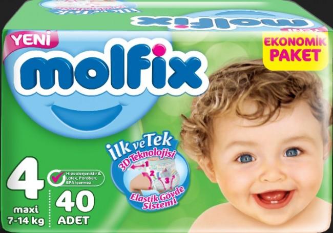 Molfix - Molfix Jumbo No:4 40lı Bebek Bezi
