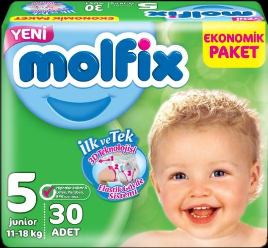 Molfix - Molfix 5 Beden Junior 30 Adet Bebek Bezi