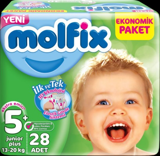 Molfix - Molfix Jumbo No:5+ 13-20 Ay 28 Adet Yeni Junior Plus
