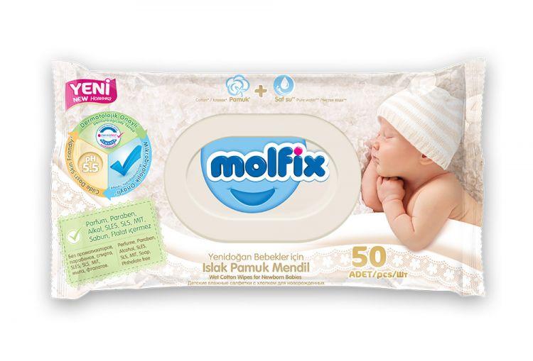 Molfix - Molfix Sensitive Islak Havlu 50 li