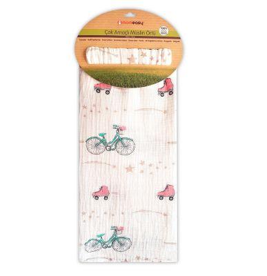 Momeasy - Momeasy 100*120 cm Tek'li Müslin Bez Paten Bisiklet