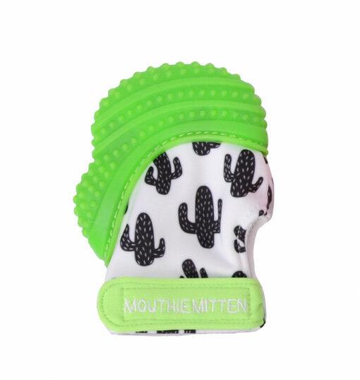 Mouthie Mitten - Mouthie Mitten Diş Kaşıyıcı Eldiven Kaktüs Yeşil
