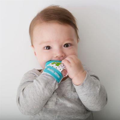 Mouthie Mitten - Mouthie Mitten Diş Kaşıyıcı Eldiven - Mavi