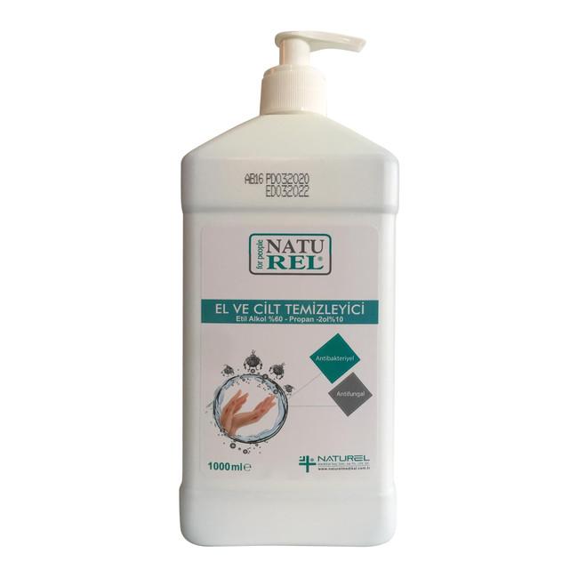 - Naturel Antibakteriyel, Biyosidal El ve Cilt Temizleyici 1000 ML