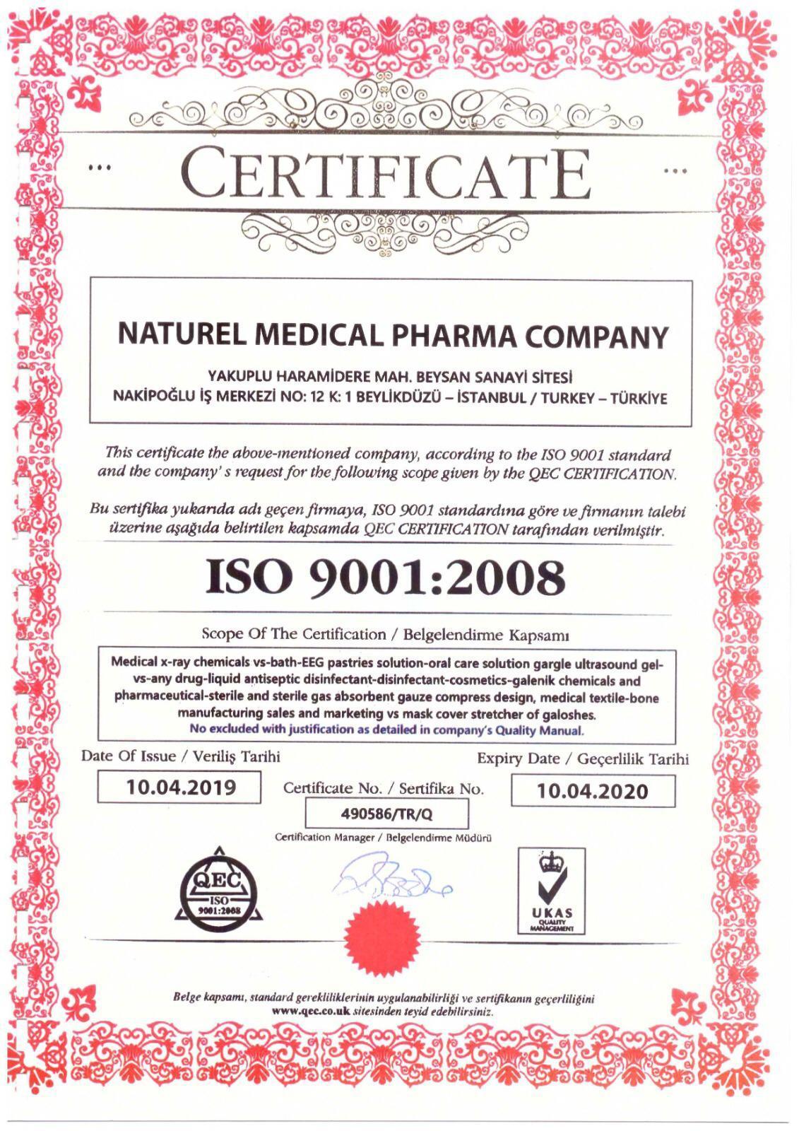 Naturel Antibakteriyel, Biyosidal El ve Cilt Temizleyici 1000 ML