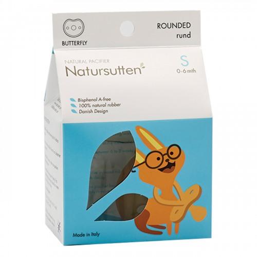 Natursutten - Natursutten Rubber Pacifier Round S BF - Kelebek Yuvarlak Küçük Boy Emzik