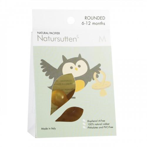 Natursutten - Natursutten Rubber Pacifier Round M - Orijinal Yuvarlak Orta Boy Emzik