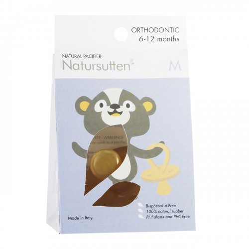 Natursutten - Natursutten Rubber Pacifier Ortodontik M - Orijinal Ortodontik Orta Boy Emzik