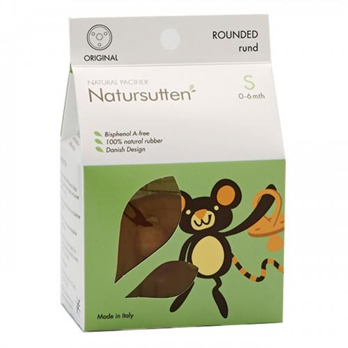 Natursutten - Natursutten Rubber Pacifier Round S - Orijinal Yuvarlak Küçük Boy Emzik
