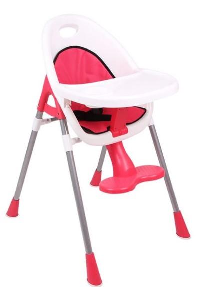 Ninikids - Ninikids Pratik Mama Sandalyesi - Nar Çiçeği
