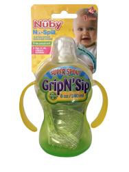 Nuby - Nuby 10052 Kolay Tutuşlu Kulplu Damlatmaz Bardak Yeşil