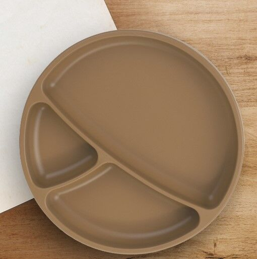 OiOi - Oioi Vakum Tabanlı Silikon Tabak Woody Brown